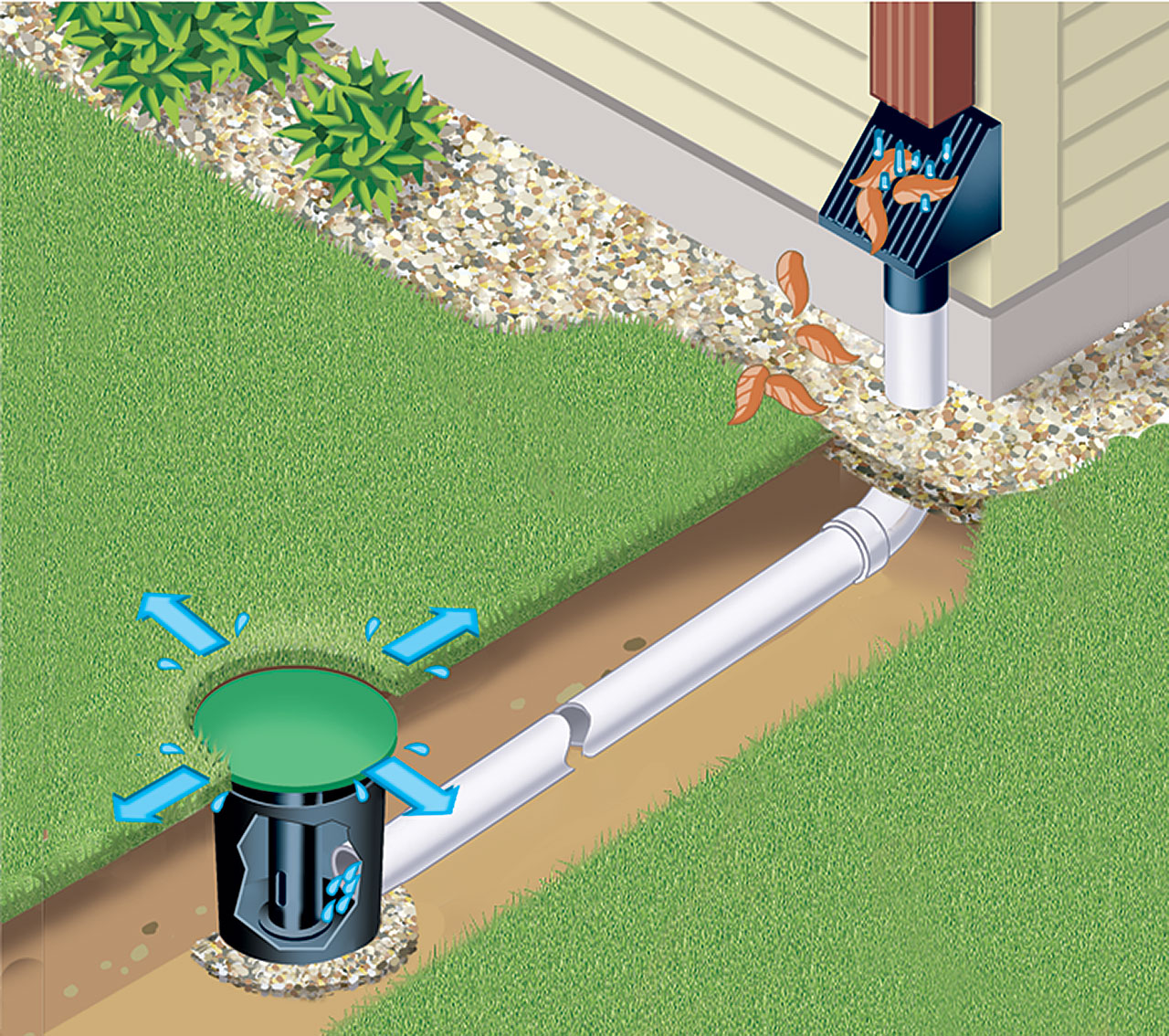 yard drainage underground sump