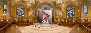 Cathedral of the Madeleine, Salt Lake City, Utah 360 degree panoram