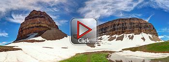 Emerald Lake below Mount Timpanogos 360 degree Panorama