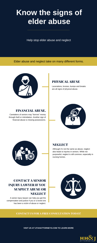 infographic explaining signs of elder abuse and neglect