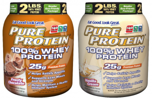 pure protein deal 300x194 Frosty Chocolate or Vanilla Cream Pure Protein Powder: 2 pound tub for $14.05 to $15.95 Shipped!