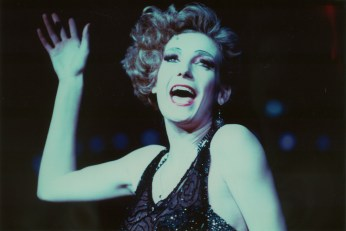 "Ute as Sally Bowles in ""Cabaret"" in Paris, with Jerome Savary in the Mogador Theatre, 1987"