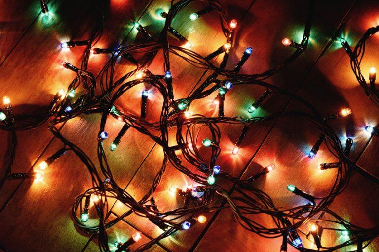 Luci di Natale colorate