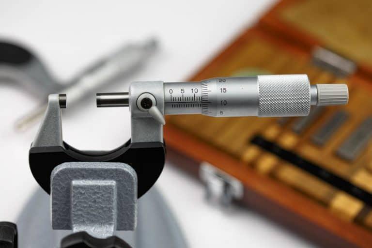 Micrometro in primo piano