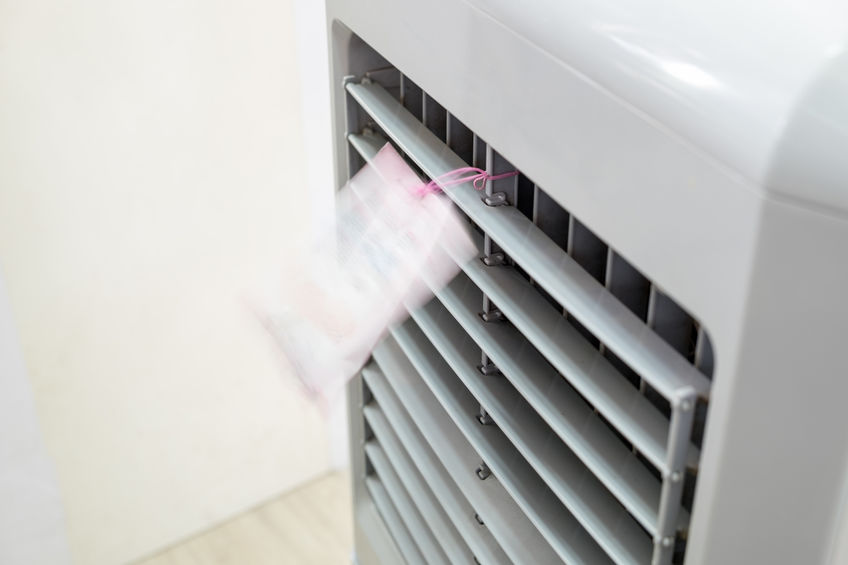 Primo piano su climatizzatore portatile