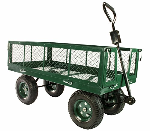 Erie Tools 1000 Lbs Flatbed Utility Garden Cart 48