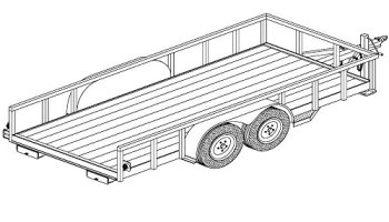 18x8 car carrier trailer plans blueprints model 1218 80 utility 6 x 14 lowboy trailer plans blueprints model 1214 malvernweather Gallery