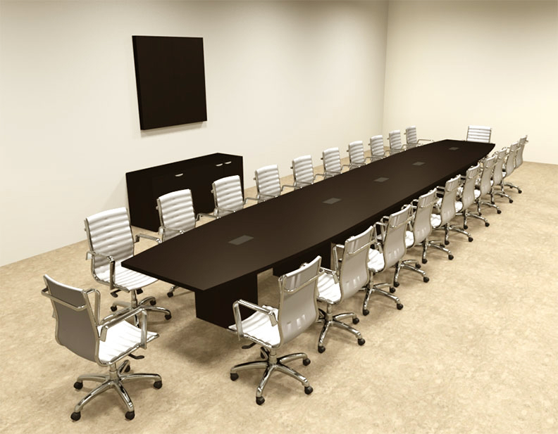 Modern Boat Shapedd 24 Feet Conference Table OF CON C95