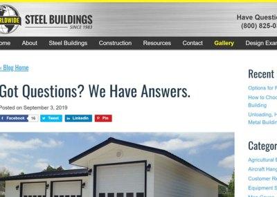 Worldwide Steel Buildings Testimonial