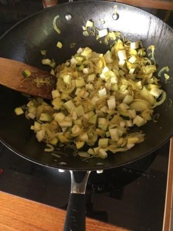 cuisson du pâté de courgettes