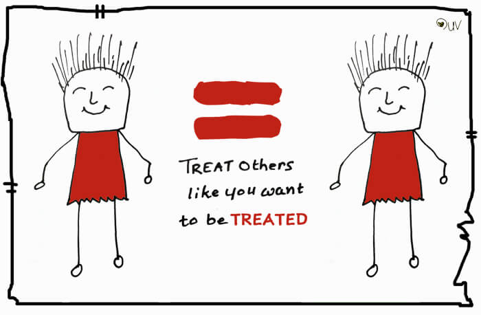 Treat others like you want to be treated - sketchtoon