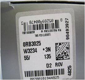 Proverite nalepnicu na kutiji u kojoj se nalaze naočare