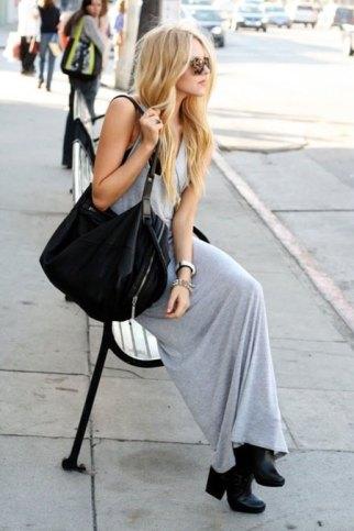 Čizme sa težim đonom i duga haljina