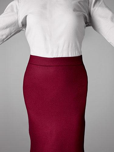 Olovka suknja prema prirodnom obimu struka