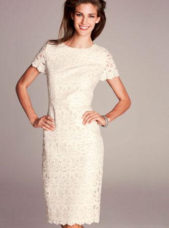 Čipkana bela haljina