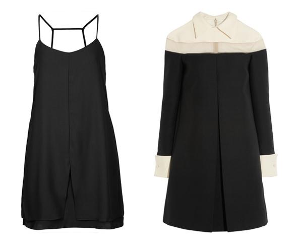 Polu formalna crna haljina
