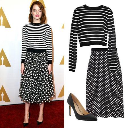 modna kombinacija  Emma Stone