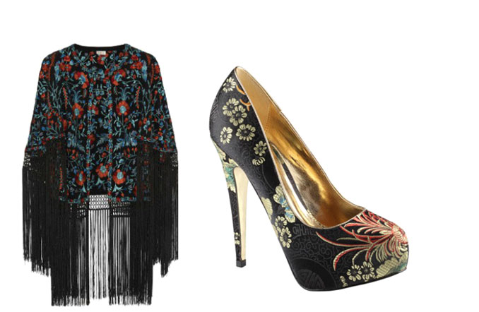 cipele cvetni stil