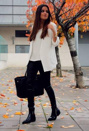 bela bluza i sako