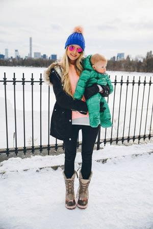 amno braon cizme za sneg