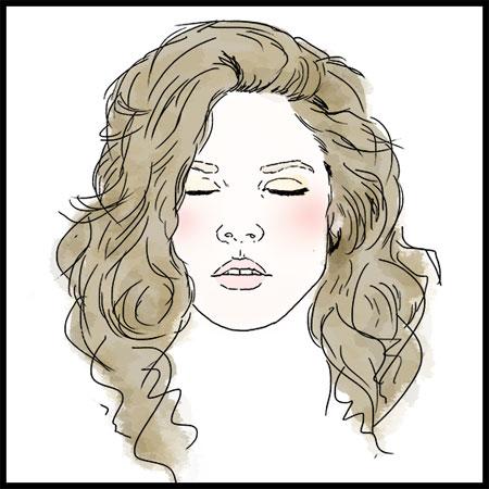 talasasta kosa i rumeni obrazi