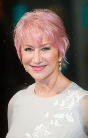 Helen Mirren quartz roze boja kose