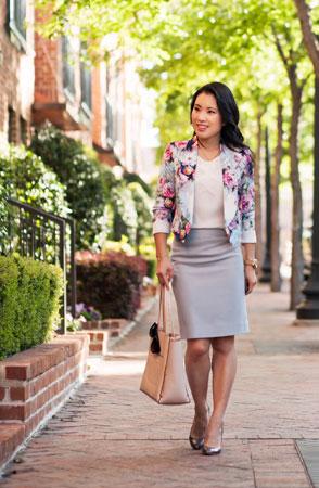 cropped jakna sa cvetnim printom