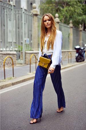 plavo bele prugaste pantalone