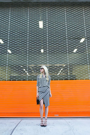 suknja sa neobicnim rasporedom pruga