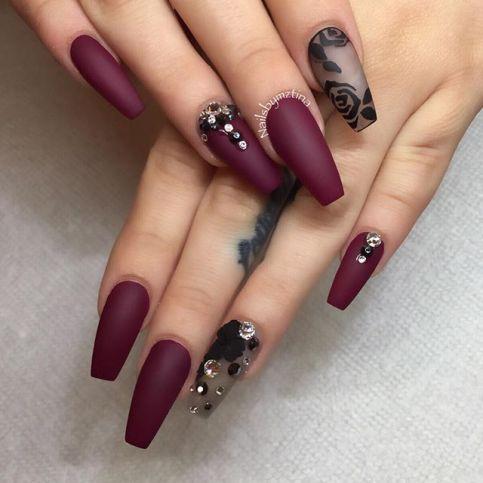 glamurozni burgundi nokti
