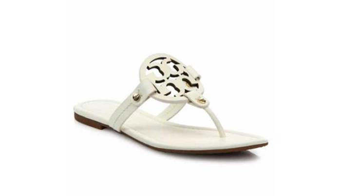 Tory Burch Leather Logo Sandals
