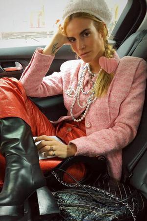 roze vintage blejzer