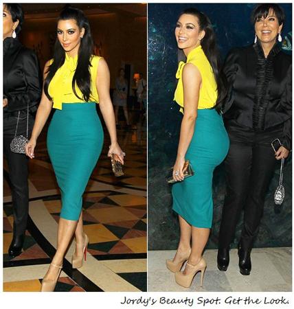teal suknja i zuta bluza