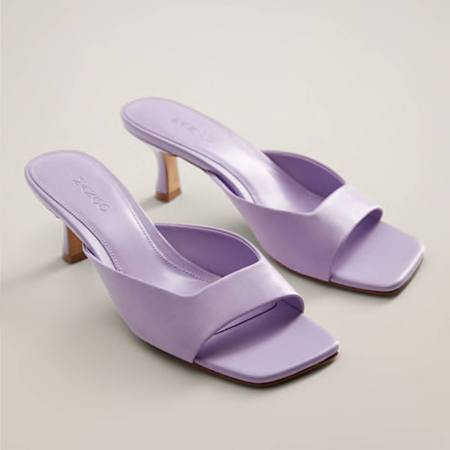 violet mules