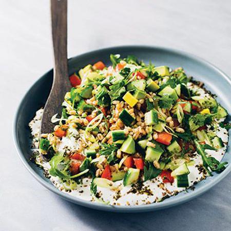 Mediteranska salata od jogurta i povrća