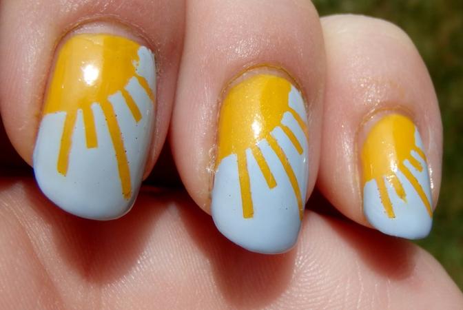 ideje za letnji manikir- motiv sunca