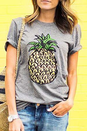 printovi za leto 2020- majica sa ananasom