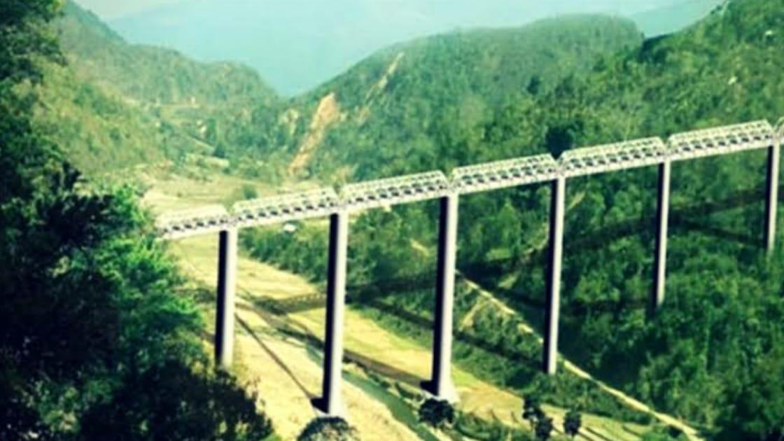 भारत (मणिपुर) में बन रहा दुनिया का सबसे ऊंचा रेलवे पुल, कुतुब मीनार से भी दोगुना ऊंचा होगा