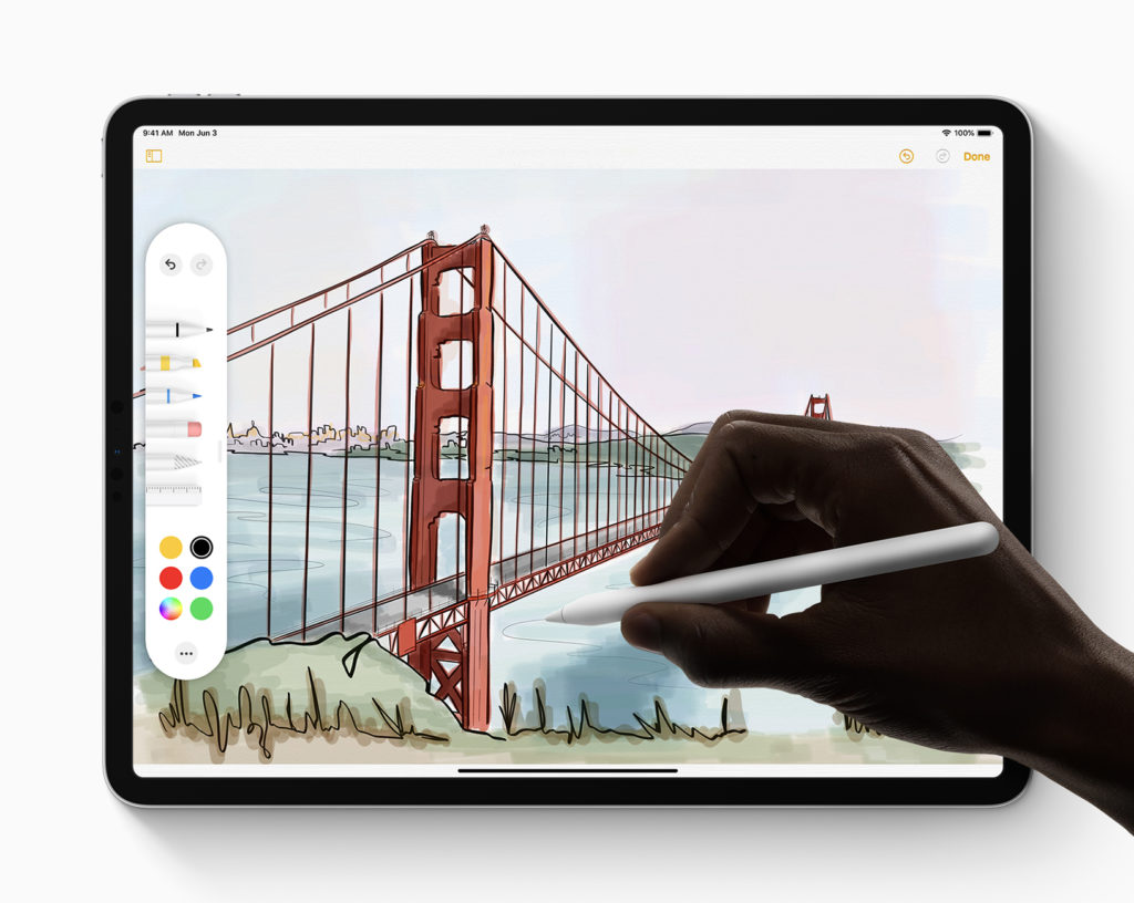 WWDC 2019 - iPadOS - Redesigned Tool Palette for Apple Pencil