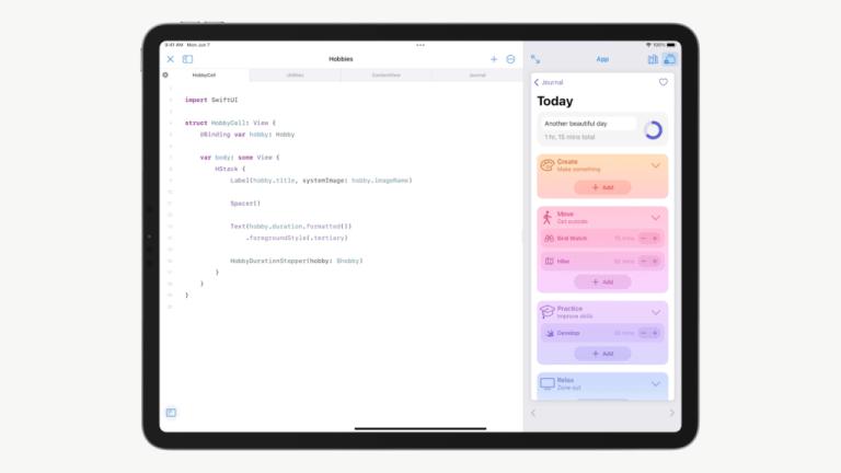 WWDC 2021 - Swift Playgrounds on iPad