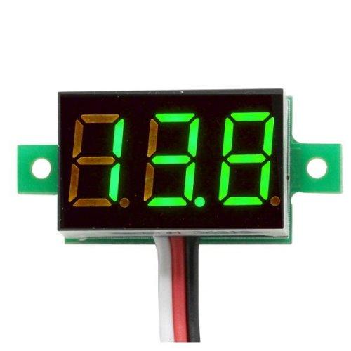 0.36 inc Mini Digital Voltage Meter Green 3Wire