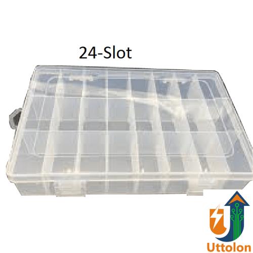24 Slot Plastic Component Box uttolonbd