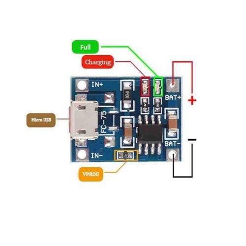 TP 4056 lithium battery charger module uttolon