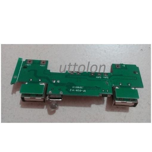 2 USB power bank circuit 3.7 to 5v 2A