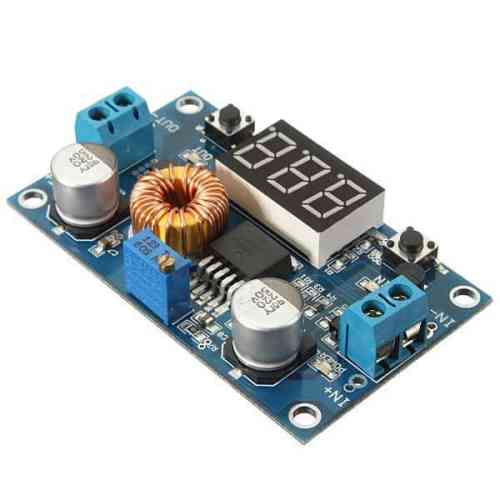 XL4015 5A DC to DC Buck converter Step Down Module Adjustable Regulator with LED Voltmeter Display