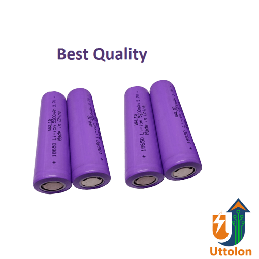 3.7V 18650 Lithium-ion Rechargeable Battery 5200mAh uttolon.com