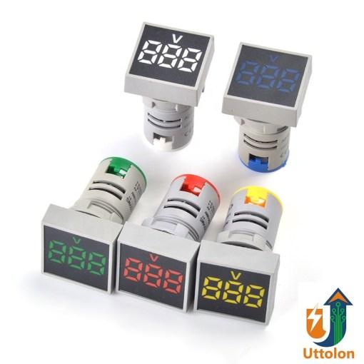 AC Digital Voltmeter Indicator Square 20-500V