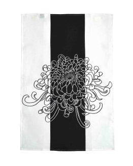 Kikukka Black Kitchen Towel