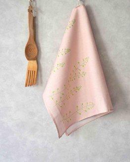 Lutukka Pink Kitchen Towel Side Loop