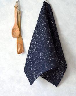 Nila Black Kitchen Towel side loop